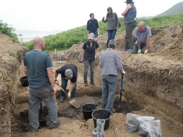 Trench 4 During Excavation