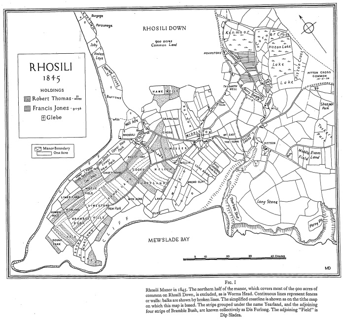 1845 Rhosili Open Field and Related S Wales Field Patterns Fig 1