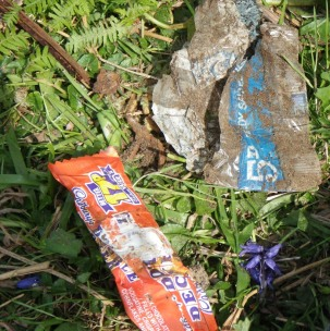 1970s Archaeology! Rubbish left behind during GGAT excavations.