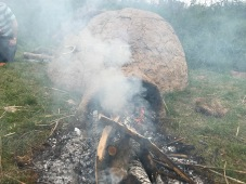 Experimental Archaeology - Firing the Medieval Corn Dryer