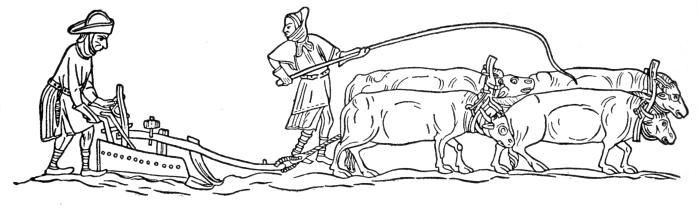 Medievalplowingwoodcut Myers, Philip Van Ness 1905 in Mediaeval and Modern History, p218